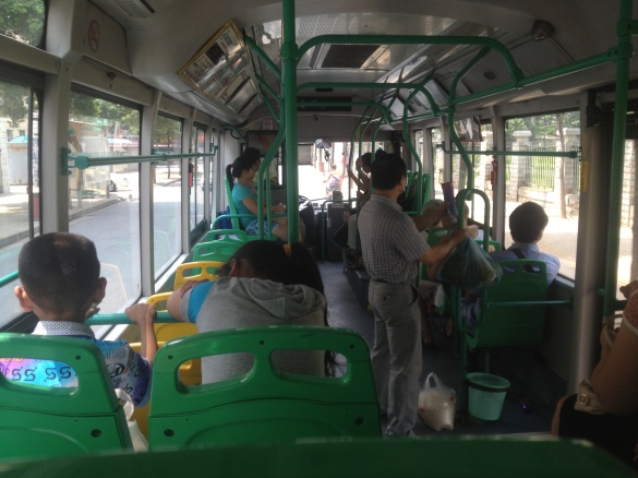 The bus in Wuhan had even A/C.. oh happy times!