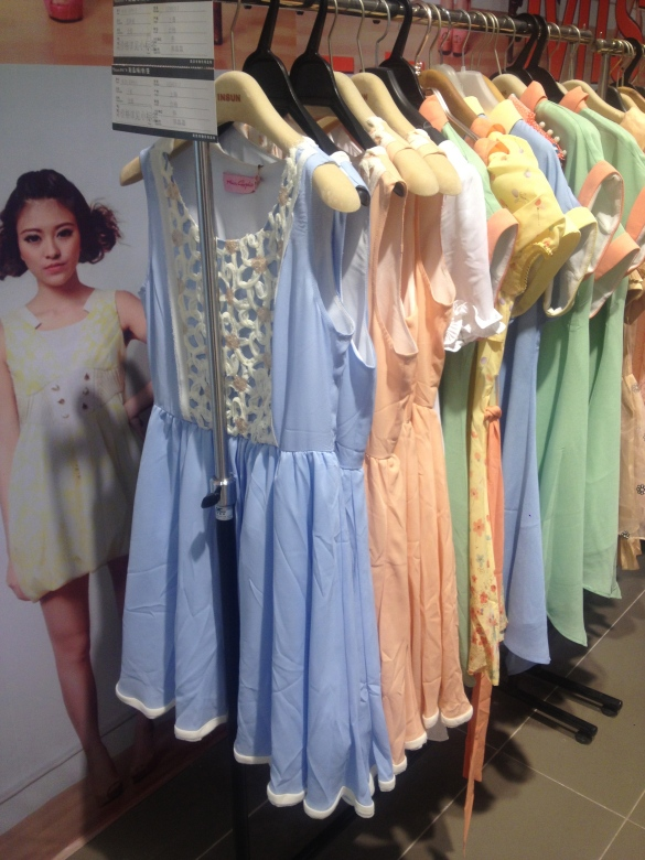 All the Chinese girls wear nice dresses and look super girly:
