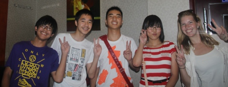 My four students: Mark, Sky, Robbert and Judy! :)