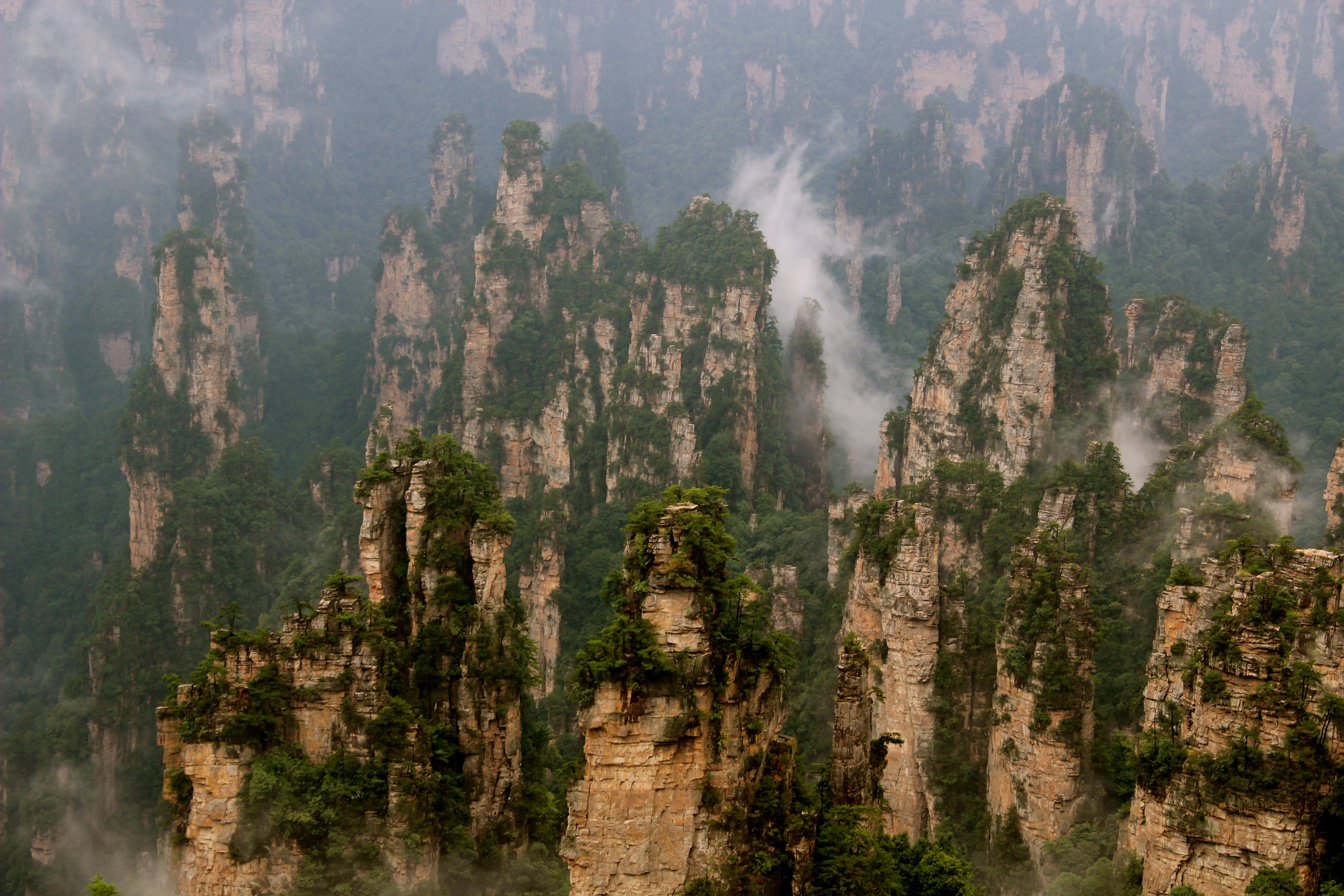 zhangjiajie national park  day 3  daguagngdai  tianzi